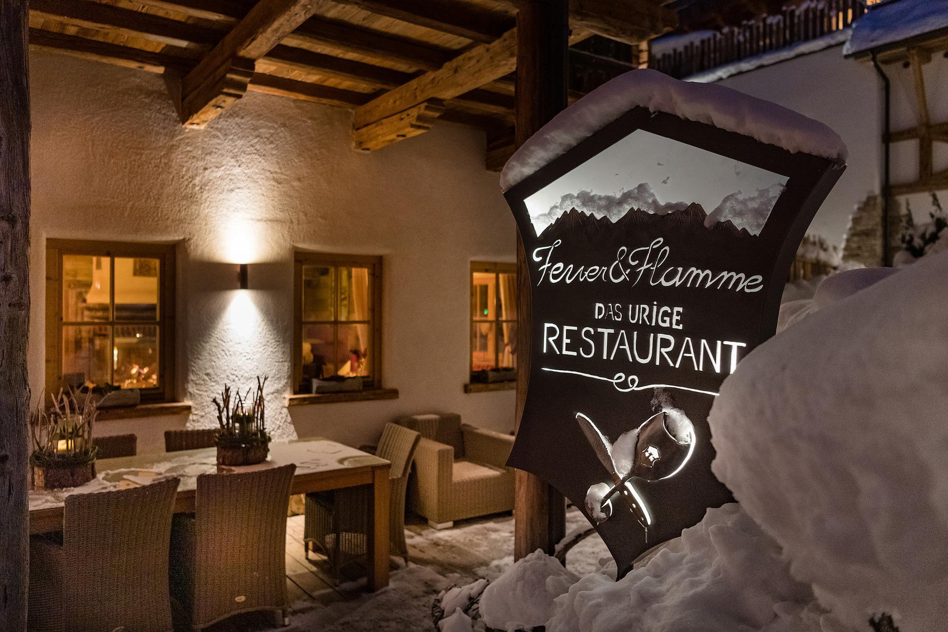 Restaurant Feuer Flamme At The Cottage Resort Ladizium Ladis